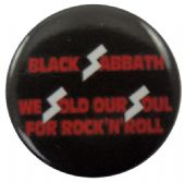 Black Sabbath - 'We Sold Our Souls' Button Badge